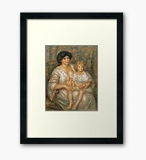 Auguste Renoir - Mother And Child (Madame Thurneyssen And Her Daughter) Framed Print