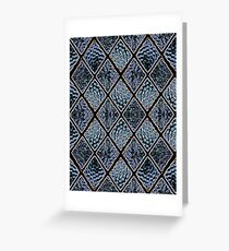 Diamond Window Panes Greeting Card