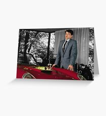 Ferris Bueller - The Red Ferrari Greeting Card