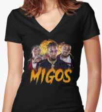 Migos Culture Women's Fitted V-Neck T-Shirt