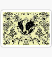 Botanical Badger Sticker
