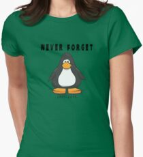 Club Penguin Never forget Womens Fitted T-Shirt