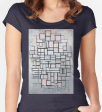 Piet Mondriaan Composition No. IV Women's Fitted Scoop T-Shirt