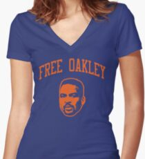 Free Oakley 4 Women's Fitted V-Neck T-Shirt