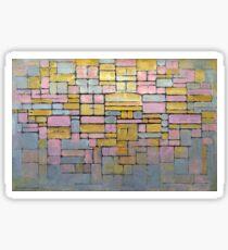 Piet Mondrian Composition No V Sticker