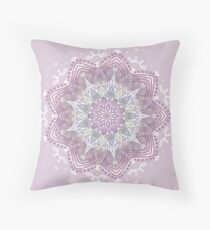 Lavender Mandala Swirl  Throw Pillow