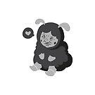 Weird Cute Sheep Guy (Black) by Martin Mejak