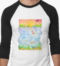 Pokemon - Sunset Lake Men's Baseball ¾ T-Shirt