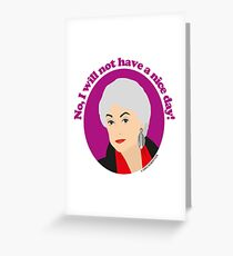 Bea Arthur as Dorothy Zbornak from The Golden Girls Greeting Card