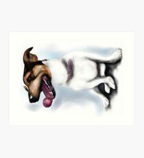 Smartie Jack Russell Terrier Design Art Print