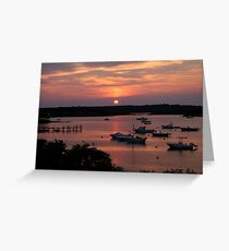 Marthas Vineyard Sunset Greeting Card