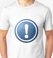Blue Exclamation Point Button T-Shirt