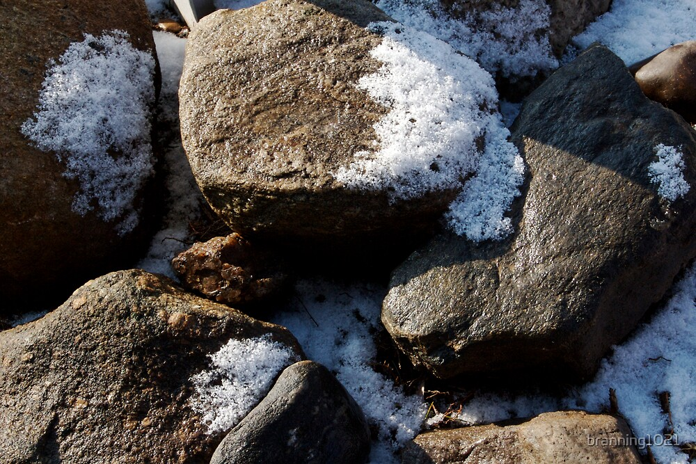 Snow and Rocks  by branning1021