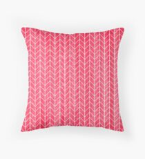 Herringbone Red Throw Pillow