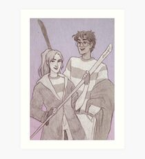 Quidditch Harry and Ginny Art Print