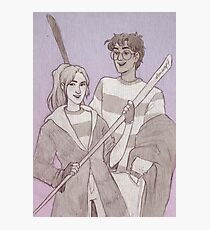 Quidditch Harry and Ginny Photographic Print