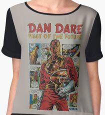' Dan Dare' retro comic book art Chiffon Top