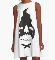 Fire Boy (Black) A-Line Dress