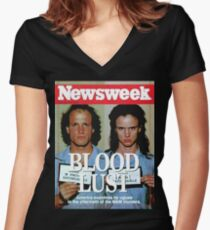 Natural Born Killers Women's Fitted V-Neck T-Shirt