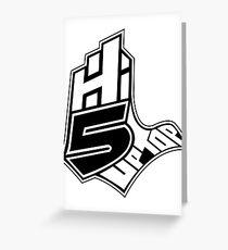 Hi-5 Up Top 2 Greeting Card
