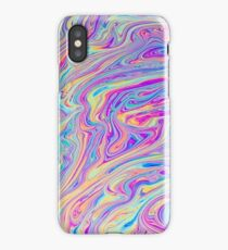 Psychedelic colourful background iPhone Case/Skin