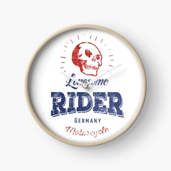 Lonesome Rider Clock