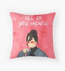 Selena Gomez Drawing Throw Pillow
