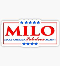 Milo Yiannopoulos - Make America FABULOUS Again! Sticker