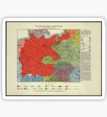 Map of Greater Germany 1920 Sticker