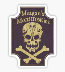 Meagan's Monstrosities Apothecary Purple Sticker Sticker