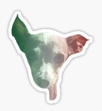 Italian Themed Goofy Miniature Italian Greyhound Sticker Sticker
