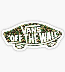 """Vans """"Off The Wall"""" X Bape camo Sticker"""