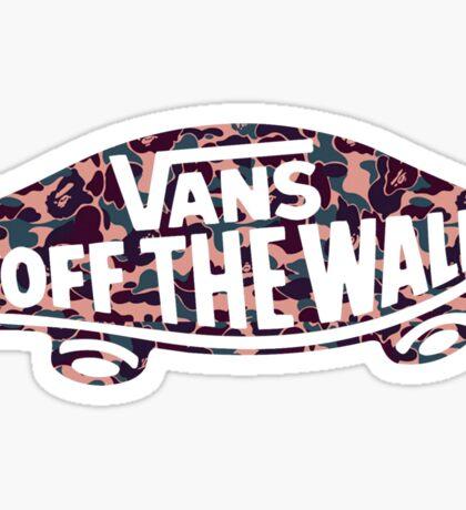"""Vans """"Off The Wall"""" X Bape camo PINK Sticker"""
