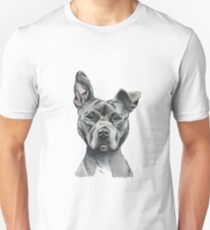 Stalky Pit Bull Dog Drawing T-Shirt