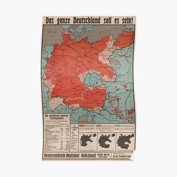 """1930s German Poster """"Das ganze Deutschland soll es sein!"""" Poster"""