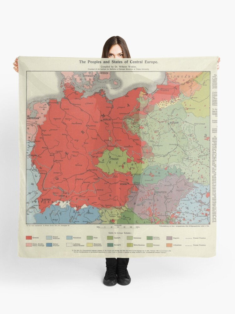 Map of Greater Germany 1920   Scarf