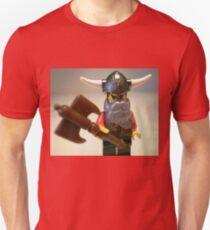 Viking Warrior with Custom Battle Axe Unisex T-Shirt