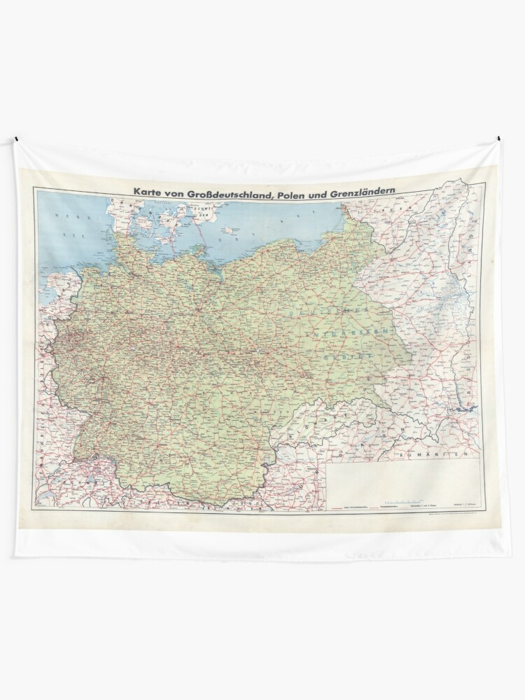 Map Of Greater Germany Tapestry By Dankmemefriend Redbubble