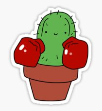 Boxing Gloves Cactus Sticker