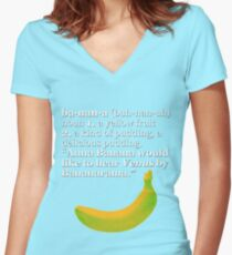 Time to learn you ABC's, or at least your B's  Women's Fitted V-Neck T-Shirt