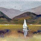 Winter Sailing at Our Island by Randy Sprout