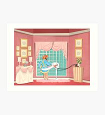 Carousel of Progress - Patricia and the Exercise Machine Art Print