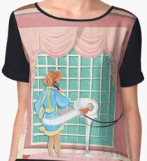 Carousel of Progress - Patricia and the Exercise Machine Chiffon Top
