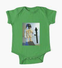 Skeleton Zombie Soldier with Custom Minifigure Helmet & Bazooka One Piece - Short Sleeve