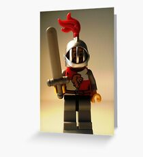 'Lion Knight Quarters' Minifigure  Greeting Card