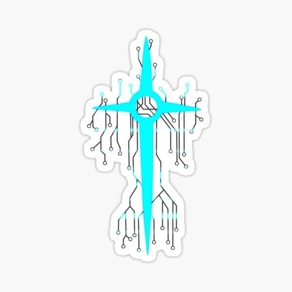 Monstertale - The Preying Eye (White) Sticker