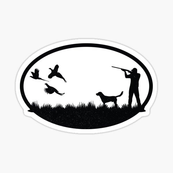 Vintage Pheasant Hunting Illustration Sticker