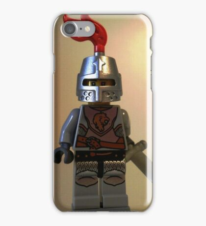 Lion Knight Minifigure, Armor with Lion Head and Belt iPhone Case/Skin