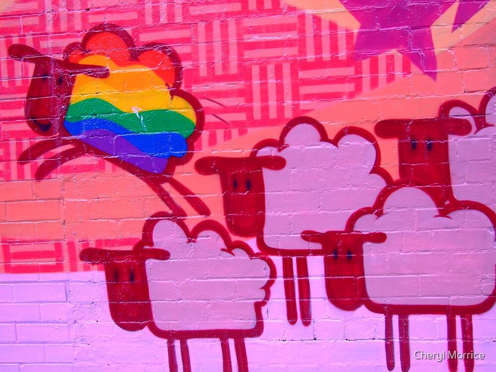 gay sheep by Cheryl Morrice