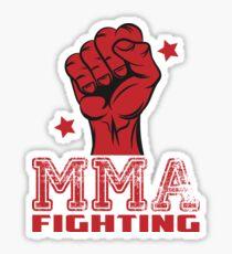 MMA Fighting Art Sticker